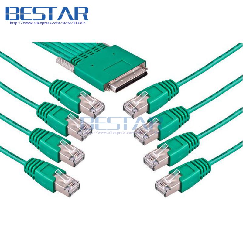 CAB-HD8-ASYNC 68pin to 8 x RJ45 Cable RJ 45 3m 10ft 8-port EIA-232 Async for Cisco HWIC-16A HWIC-8A Router Network Router Cables eia uus kahe näoga jumal