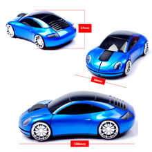 2.4GHz Wireless 1600DPI Usb Optical Gaming 3D Sport Car Shape Mouse Mini Mice For PC Laptop Computer Headlight and Tail Light-Up