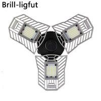 E27 60W 6000LM High Intensity Led Radar Deformable Garage Lamp AC170 265V LED Mining Lamps for Parking Warehouse Industrial