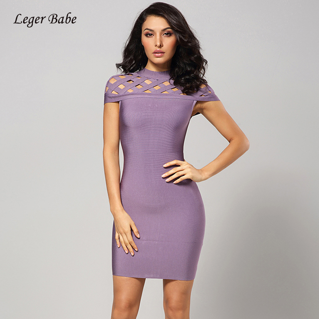 Leger Babe Elegant Bodycon Dress Women Cocktail Bandage Dress 2018 Hollow  Out Short Sleeve Mini Sexy Celebrity Party Dresses 791c3be1cbd5