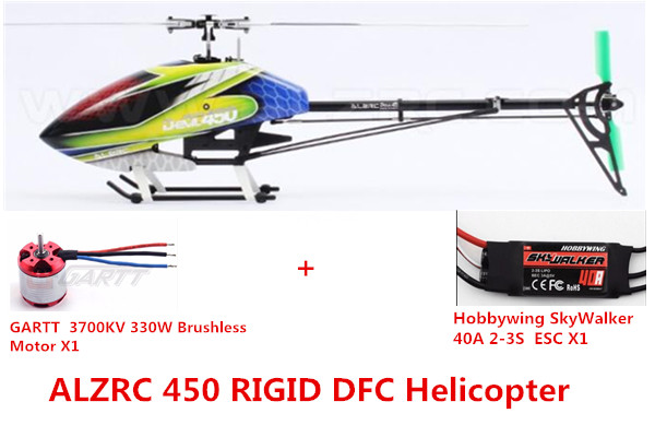 ALZRC - Devil 450 RIGID DFC KIT Helicopter- Black/Silvery alzrc devil 500 rigid new body assembly