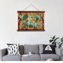 цена Hanging wall art prints on canvas Modern Wall Decoration canvas pattern for living room horizontal rectangle scroll painting в интернет-магазинах