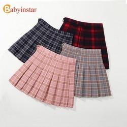 Babyinstar Baby Girls Cotton Skirt 2019 Autumn Elastic Waist Cake Children Shorts Clothing Girls Constume Kids Skirts For Girls