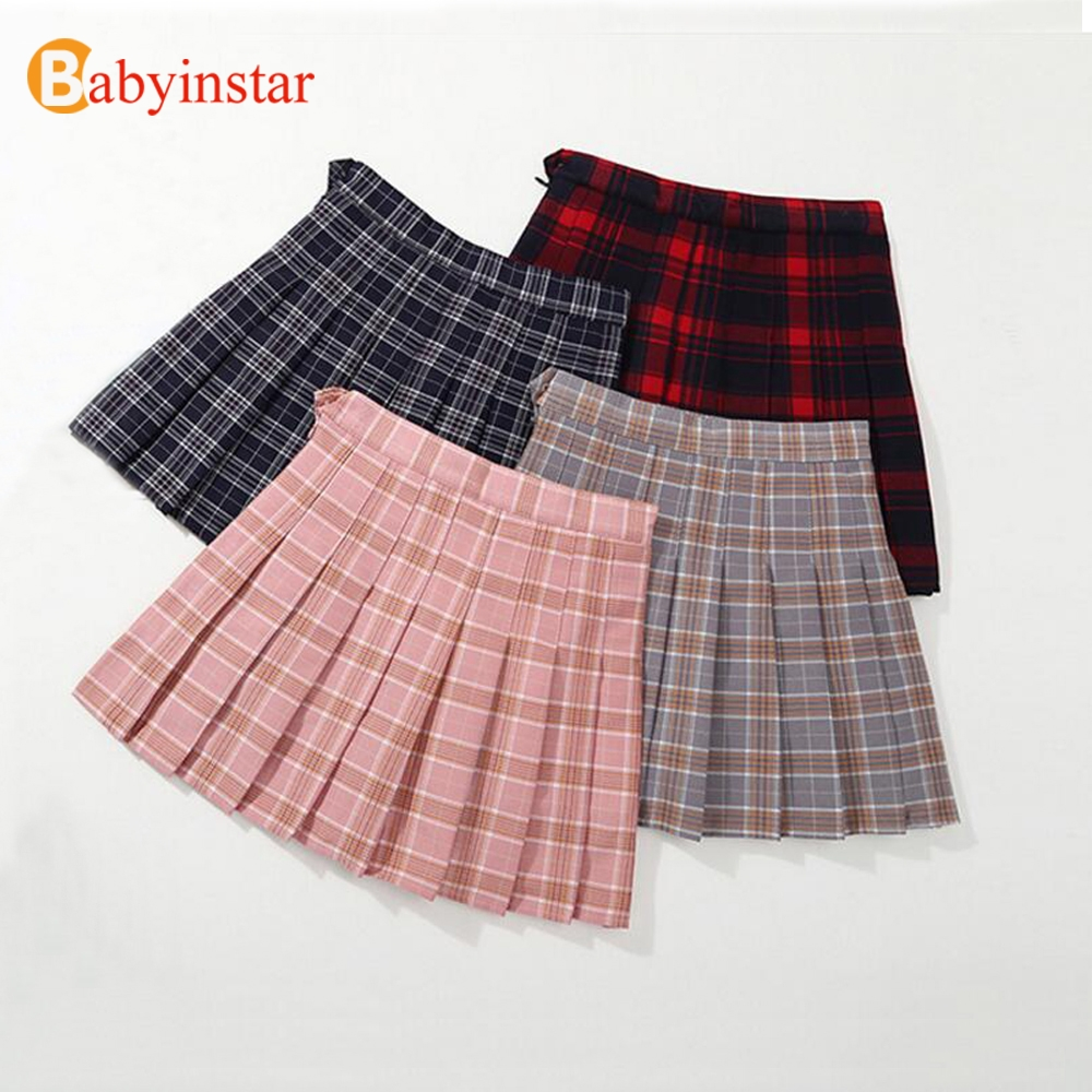 bb58c4fa8 Babyinstar bebé niñas falda de algodón 2019 otoño cintura elástica pastel  niños pantalones cortos ropa niñas Constume niños faldas para niñas
