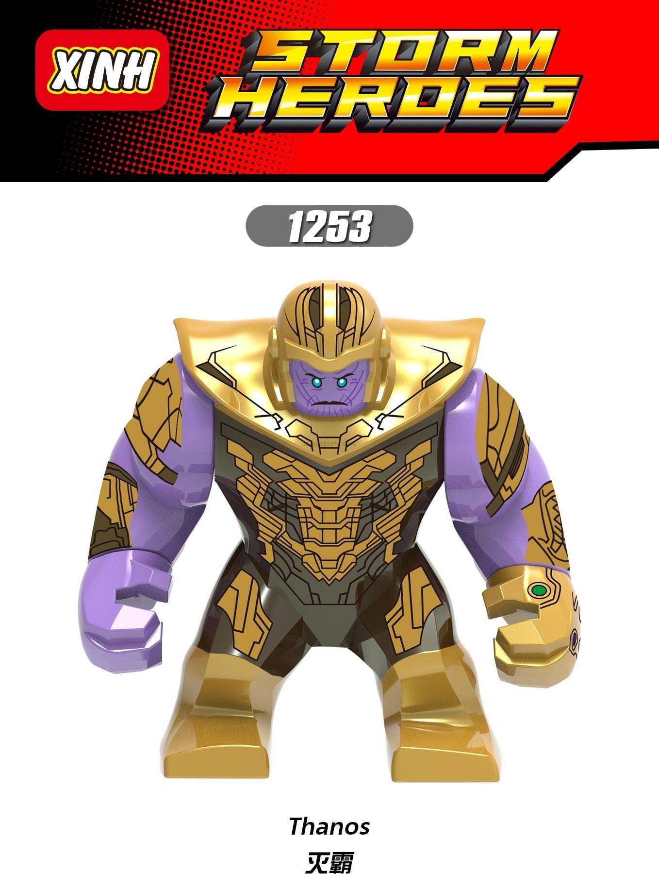 Legoing Hulk Marvel Thanos 4 Vingadores Super Heroes Batman homem Aranha Homem De Ferro Capitão América Figuras de Blocos de Construção de Brinquedos Presentes