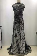 12 colores diseño clásico JIANXI.C 102701 encaje de malla de tul bordado de lentejuelas de la mejor calidad para sawing vestido de novia