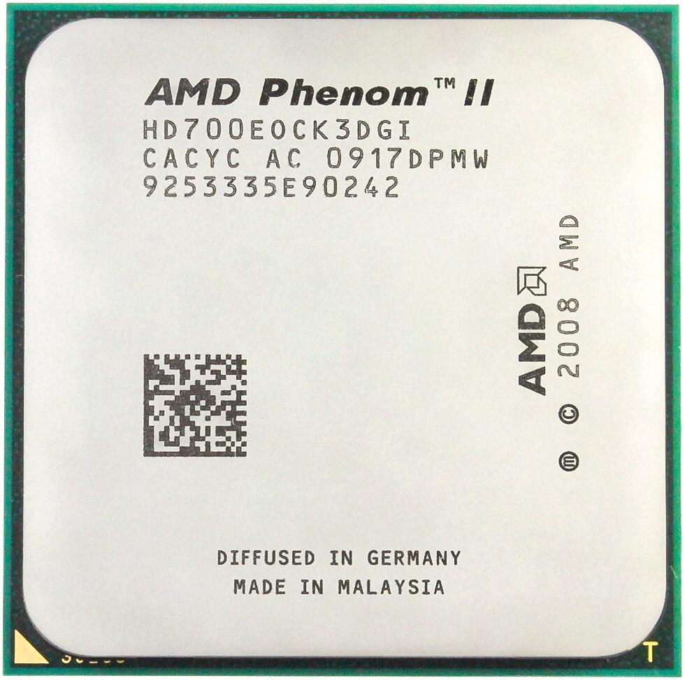 AMD Phenom II X3 700E CPU Processor Three-Core (2.4Ghz/L3 6M/65 Watt/2000 GHz) Socket Am3 Am2+