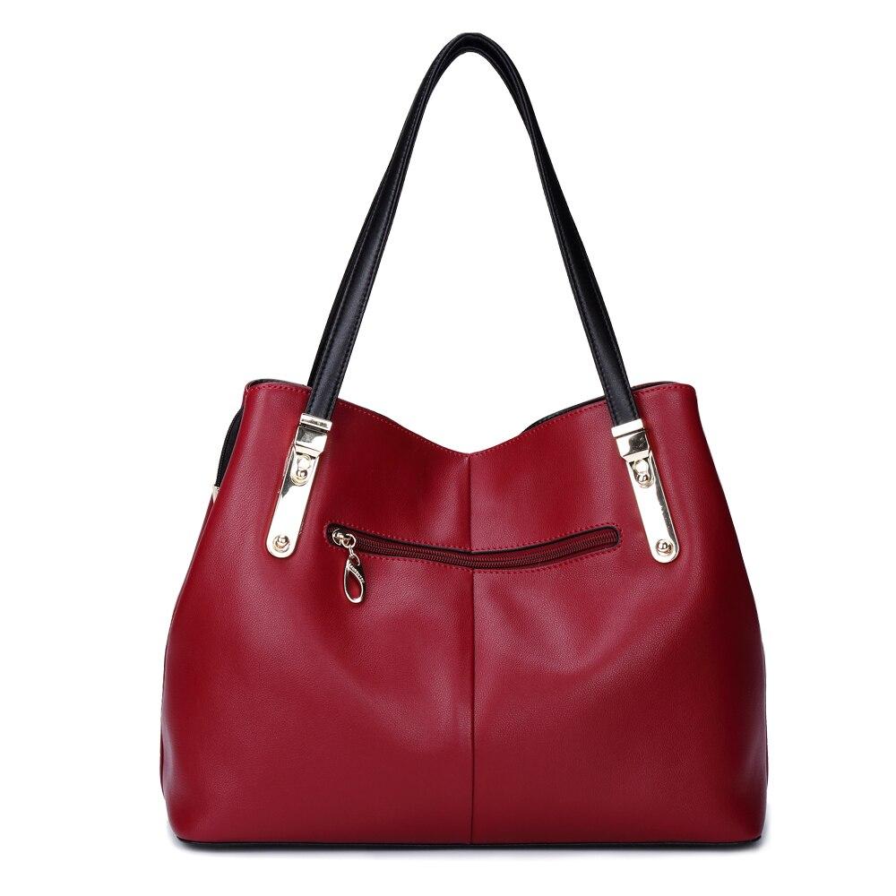 couro de luxo bolso mujer Tipos de Sacos : Ombro e Bolsas