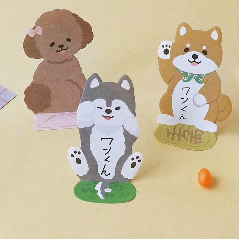 32 Pcs/Lot Likable Sticky Notes Kawaii Dog Cat Diary Stickers Stationery Office Accessories School Supplies CM119