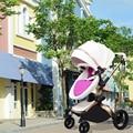 ¡Cochecitos de bebé europeos Hk libre! Marca Cochecitos de bebé cochecito luz coche UE cuero de exportación 0-3 años 5 colores regalos