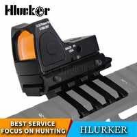 Hlurker Hunting Glock Optical Micro Reflex Red Dot Sight Scope Riflescope Adjustable Brightness Rifle Scopes Airsoft Optics Sigh