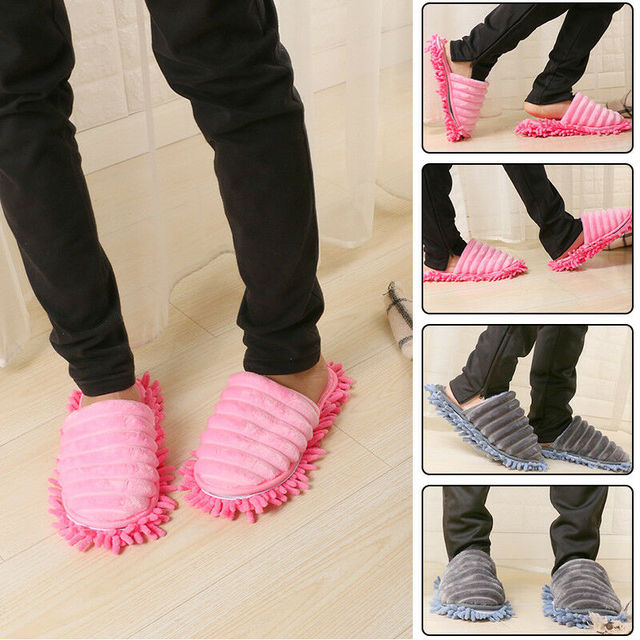Mop Slippers | Best Coral Fleece Floor Cleaning Slippers