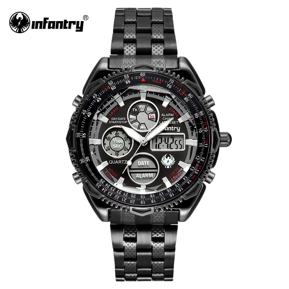 INFANTRY day this year watch men wrist watch digital watch hours are smart Japan movement clock men with gift box