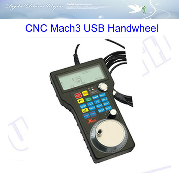 CNC Mach3 USB Handwheel 4 Axis Pulse 50 PPR Optical Encoder Generator MPG Pendan wholesale free shipping mach3 cnc usb mpg pendant for mach3 or 4 axis engraving cnc wireless handwheel