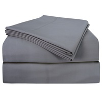 PHF 100% Cotton Sheet Set With Pillow Case Navy Blue White Light Grey Cream Color Mattress Covers Fitted Sheet Sets Queen King