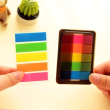 Cute Rainbow Sticky Notes Memo Clip N Times Post it DIY Sticker Office material school supplies
