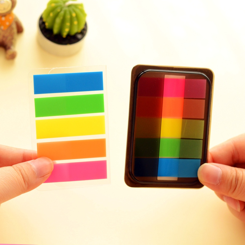 Cute Rainbow Sticky Notes Memo Clip N Times Post t DIY Sticker Office Material School Supplies