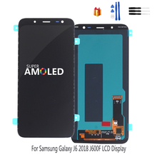 AMOLED Original LCD Display For Samsung Galaxy J6 2018 Screen Touch Screen Digitizer Assembly Replacement J600F J600 Free Tools 100% original for samsung galaxy s3 mini i8190 lcd display with touch screen assembly white replacement parts free tracking no