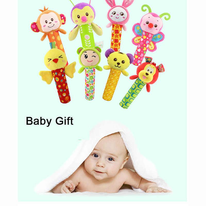 ของเล่นตุ๊กตาน่ารัก Baby Soothing Rattle สัตว์ BB stick Hand Bell Rattle ตลกของเล่นเพื่อการศึกษาเด็กวันเกิดของขวัญ