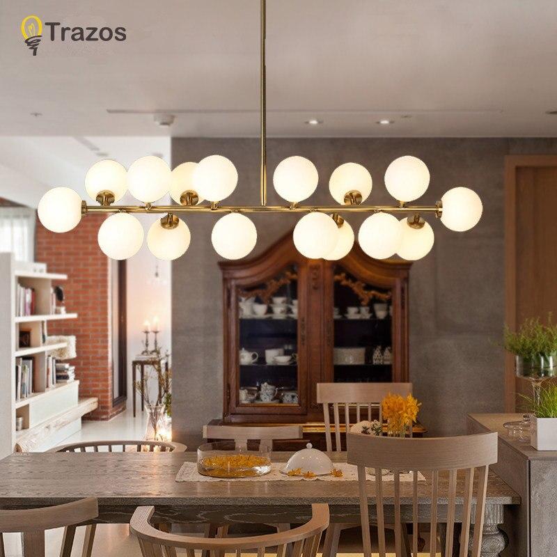Nordique simple salon restaurant éléments lustre post-moderne art chambre creative vêtements magasin haricots magiques verre chand