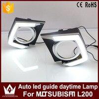 Tcart 2PCS High Quality Car LED Daytime Running Light White DRL Led Auto Guide Daytime Lamp