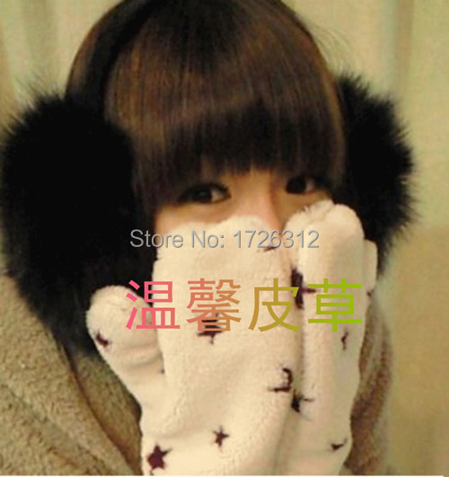 Winter Fox Fur Earmuffs Fur Ear Cover Sub Ultralarge Earmuffs