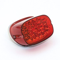 Red Chopped led tail light for Harley 883 1200 Sportster XL FLHR FLHRCI FXD Dyna Harley motorcycle taillight turn signal