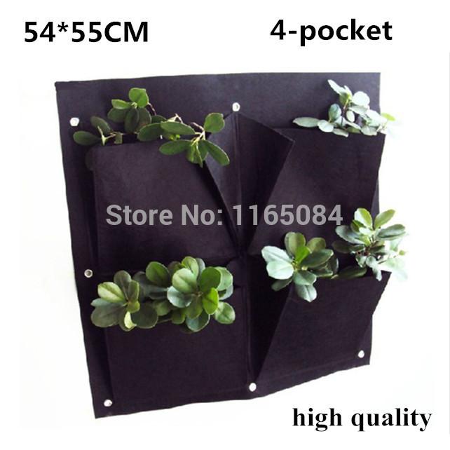bolsillos vertical garden planter de pared polister inicio jardinera flor plantacin de bolsas de estar