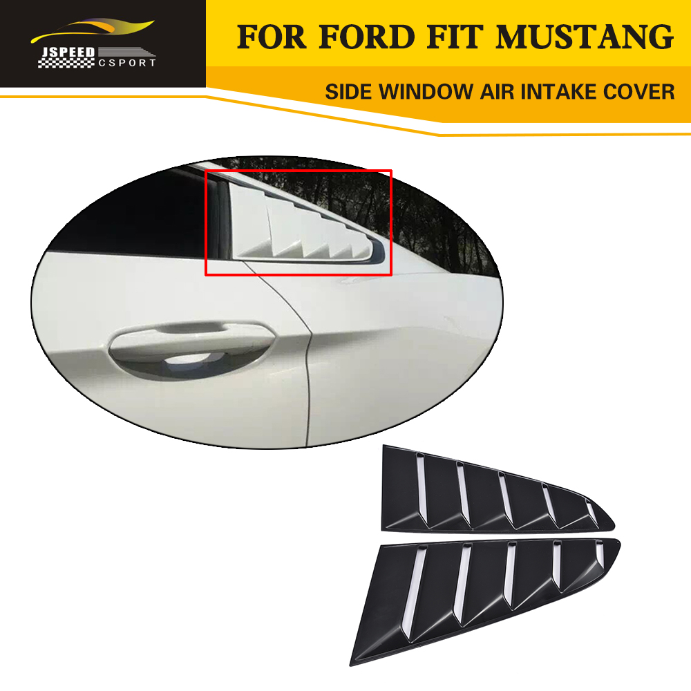 PP Auto Car-Styling Side Window Air intake Cover Air Vent Grille for Ford Mustang Coupe 2-Door 2015-2017 auto side air vent fender decoration sticker cover hole intake grille duct flow