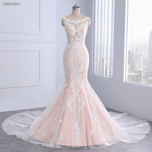 EBDOING Wedding Dress 2018 Sleeveless Chapel Train