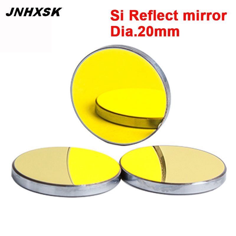 1 Piece Dia 20mm  Si Laser Lens/Reflective Mirrors For CO2 Laser Engraver/laser Engraving And Cutting Machine