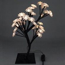 Новинка Luminarias LED Хрустальный цветок вишни Лампы Night lights настольные лампы Рождество свадьба украшения внутреннего освещения