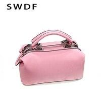 Small Vintage Casual Leather Handbags 2017 New Retro Female Bag Handbag Bag Candy Color Trend Simple