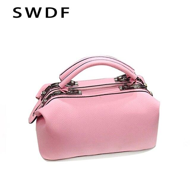 Small Vintage Casual Leather Handbags 2017 New Retro Female Bag Handbag Candy Color Trend Simple