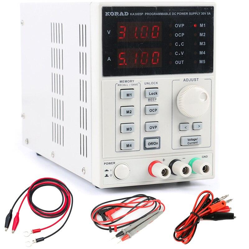 KA3005P haute précision Programmable DC alimentation 30V 5A réglable numérique laboratoire alimentation RS232 USB interface