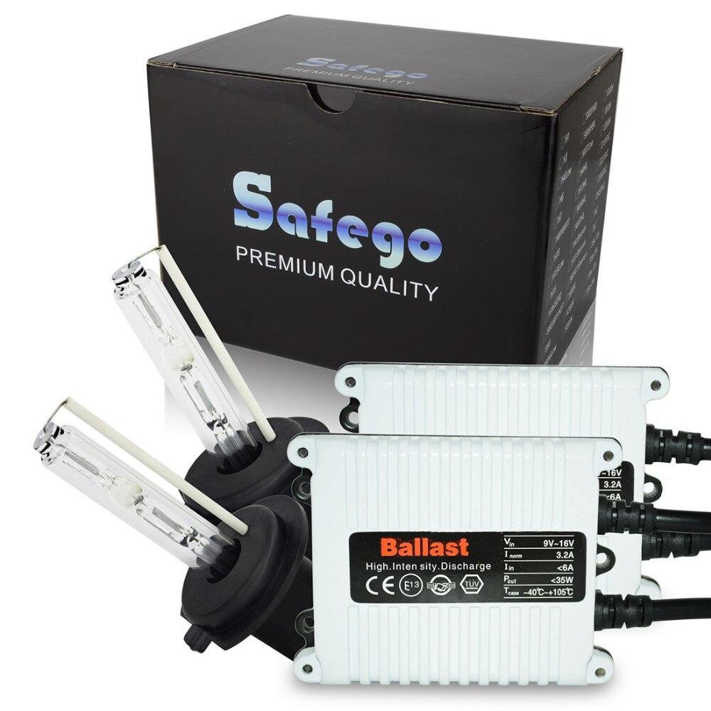 Safego AC 12V 35W HID Kit xénon phare simple faisceau H1 H3 H4-1 H7 H8 H9 H10 H11 remplacement pour ampoules Auto xénon