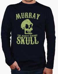 Autumn winter new cotton tee homme 3d three quarter murray the mighty demonic skull funny long.jpg 250x250