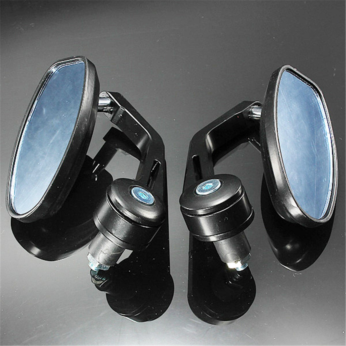 Universal 7/8 Inches Bar End Rear Mirrors Moto Motorcycle Motorbike Scooters Rearview Mirror Side View Mirrors Cafe Racer
