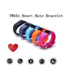 TW64S Bluetooth Умный Браслет Inteligente Импульса Умный Браслет Монитор Сердечного ритма TW64 Плюс Smartband Спорт Браслет OLED Дисплей