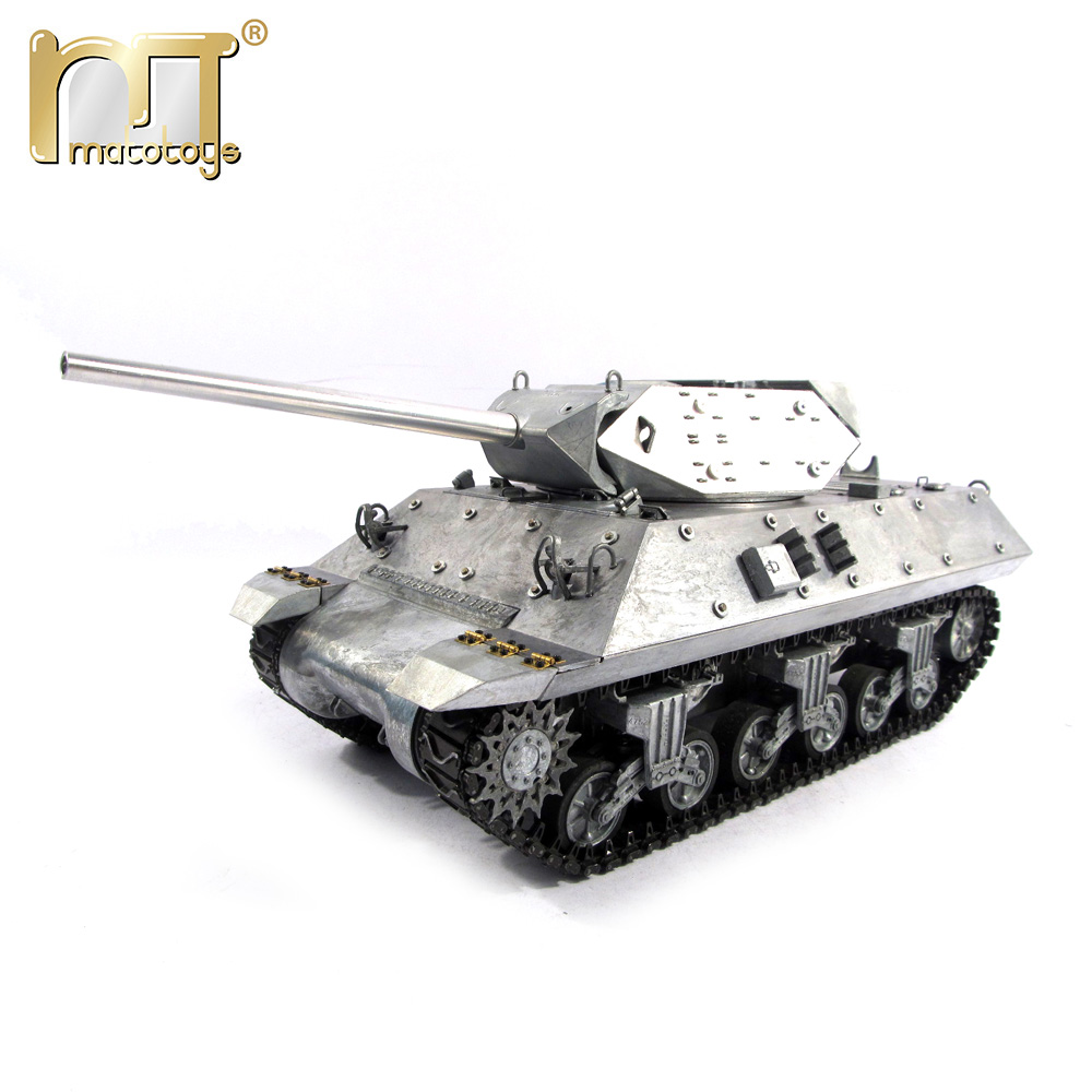 Mato 100% metal rc tanks M10 Destroyer Ready to Run Original metal color Infrared recoil metal model rc tank mato 100