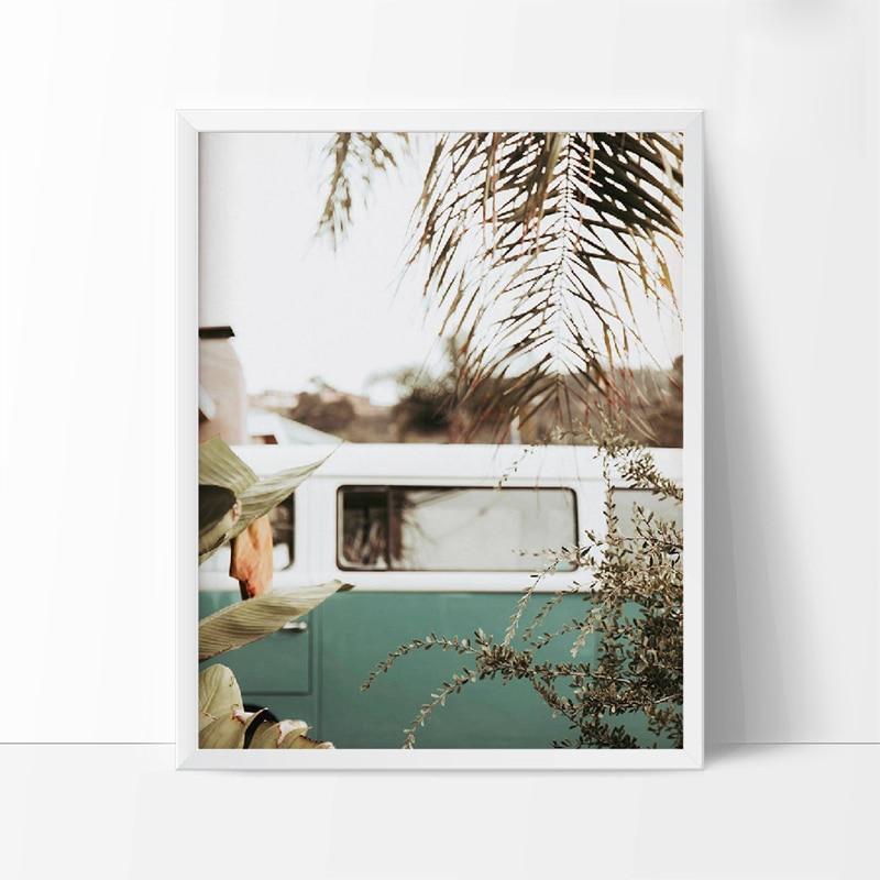 Retro Van Camper Art Canvas Prints And