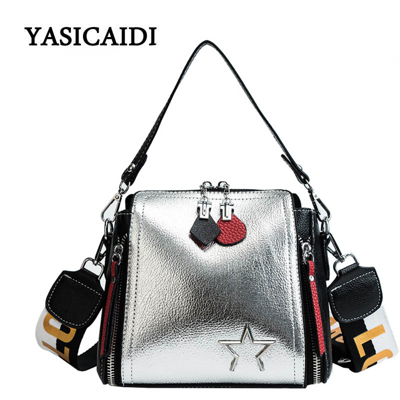 Luxury Handbags Women Designer PU Leather Bags for Women 2018 Large Hand Bag Wide Shoulder Strap Bright Faced Bucket Bag gorden yi de luxury brand designer bucket bag women leather wide strap shoulder bag handbag large capacity crossbody bag color 8