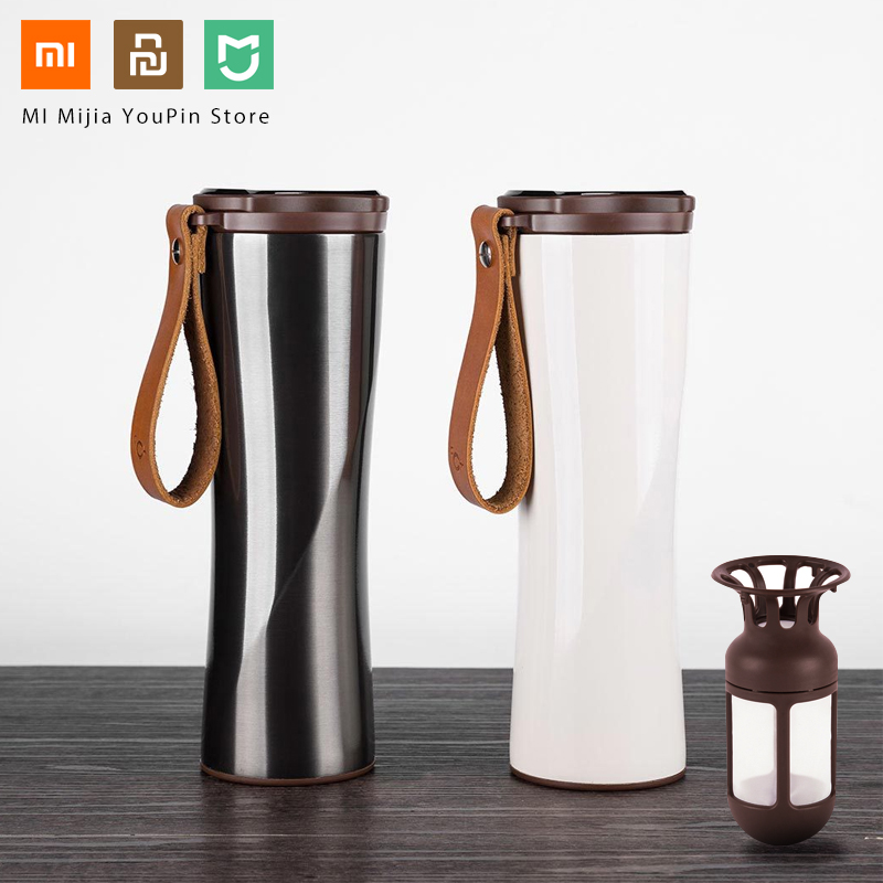 Original Xiaomi Mijia Kiss Kiss Fish Stainless Steel Thermal Vacuum Water Bottle Sensitive Temperature Sensor with