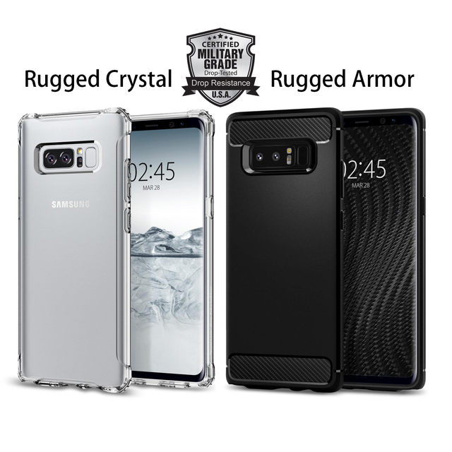 the latest 08ed8 3e752 US $16.99 |100% Original Rugged Armor / Crystal Case for Samsung Galaxy  Note 8 Flexible Durable Military Grade Drop Resistance Shell Case-in Fitted  ...