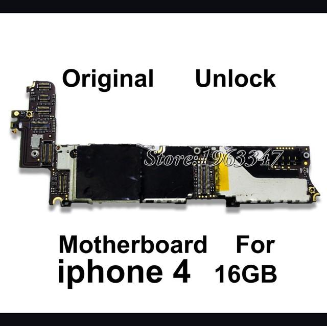 16 gb 100% mothboard para iphone 4 mainboard motherboard placa lógica original peças de reposição