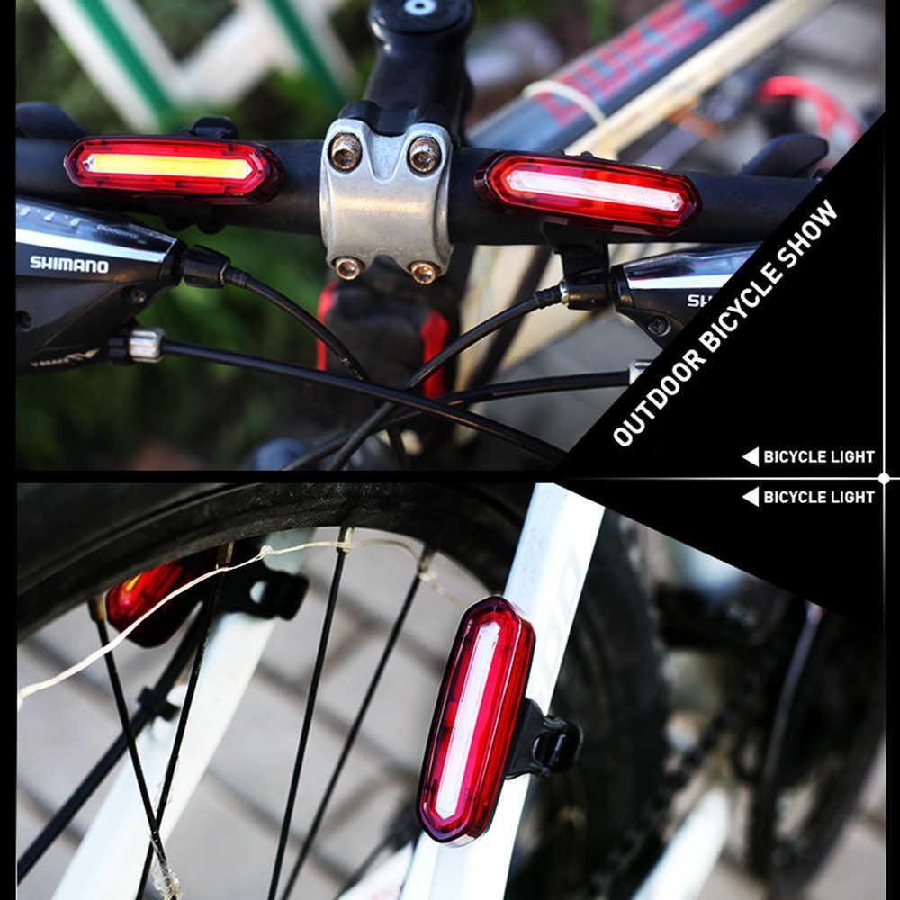 Żarówka LED rower ładowany na USB tylne światła jazda na rowerze LED Taillight wodoodporna MTB rower szosowy tylna lampa tylna dla rowerów