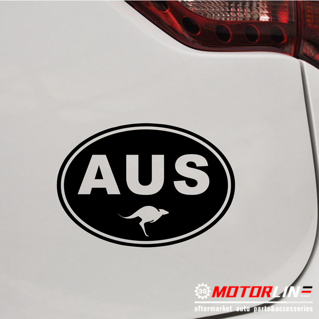 US $3 5 |Australia Oval Country Code AUS Decal Sticker Car Vinyl Australian  Kangaroo pick size color no bkgrd-in Car Stickers from Automobiles &