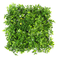 ULAND 1x1m DIY Artificial Vertical Garden Greenery Topiary Wall Fencing Decorative Square Mats for Backyard Balcony Workshop