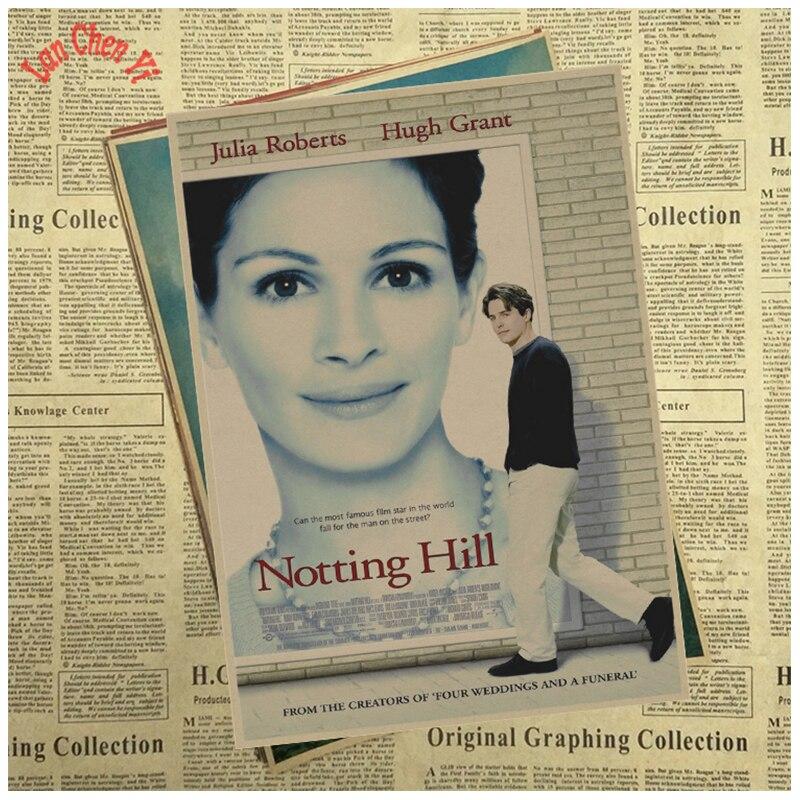 Award winning film Notting Hill Vintage Kraft Paper Poster Office Gift Room Dining Home Decor wall sticker Design
