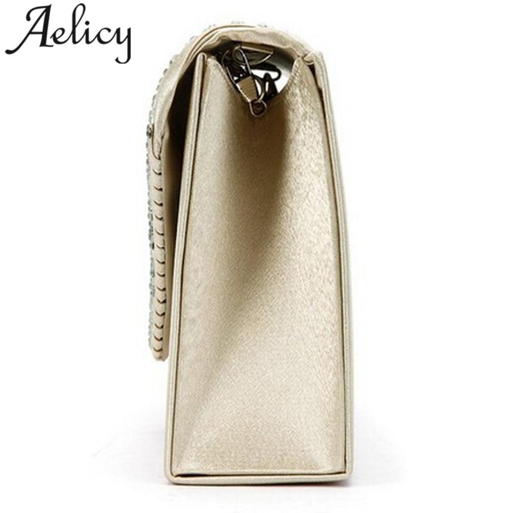 לחץ להגדלה. New Aelicy Ladies Evening Satin Bridal Diamante Ladies Clutch  Bag Party Prom Envelope Shoulder Crossbody Bags bolsa feminina 5bddca235409